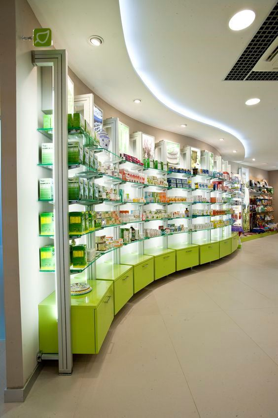 Pharmacy design orveon for Sustainable interior design products